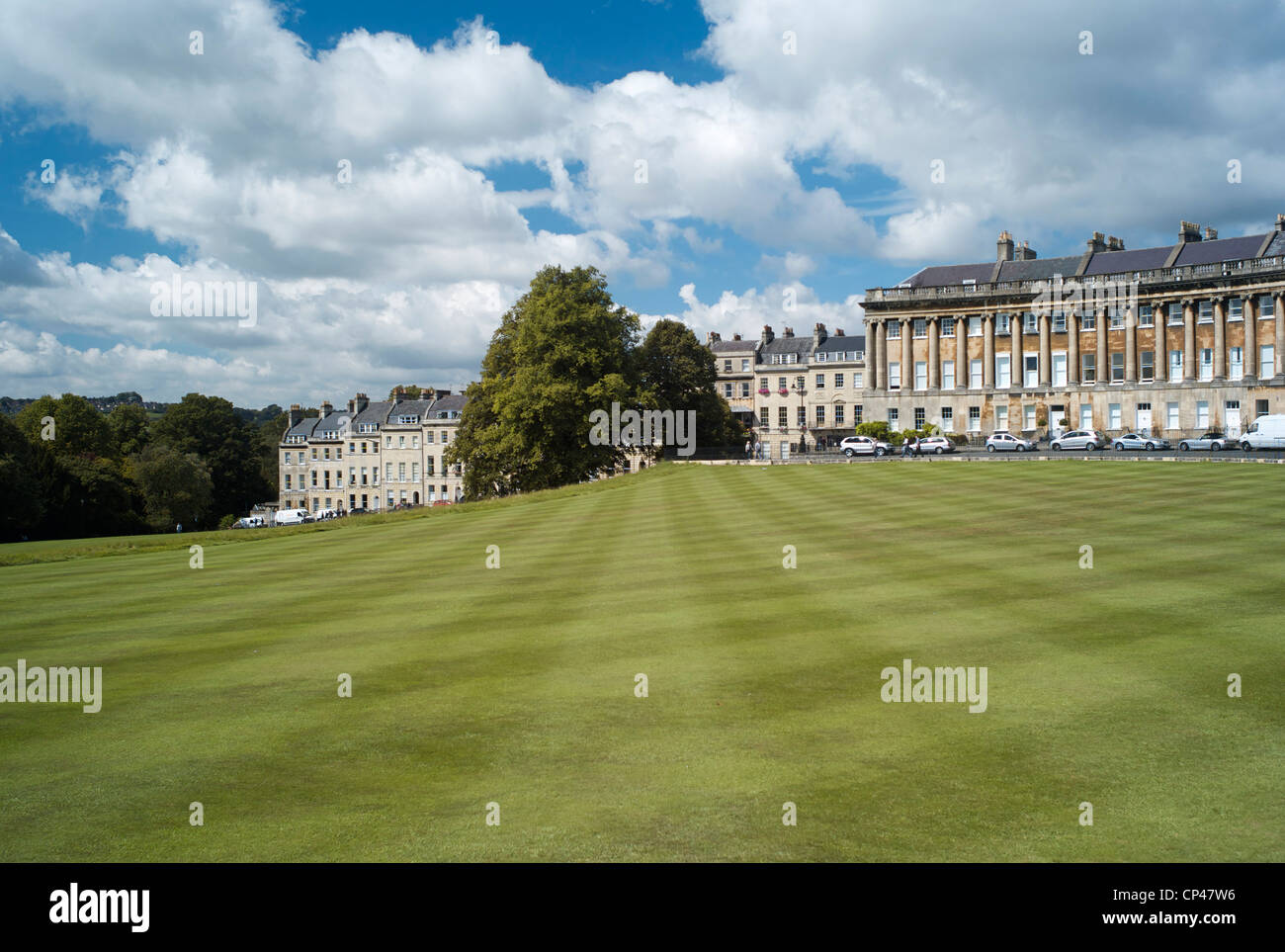 Der Royal Crescent, Bath UK Stockbild