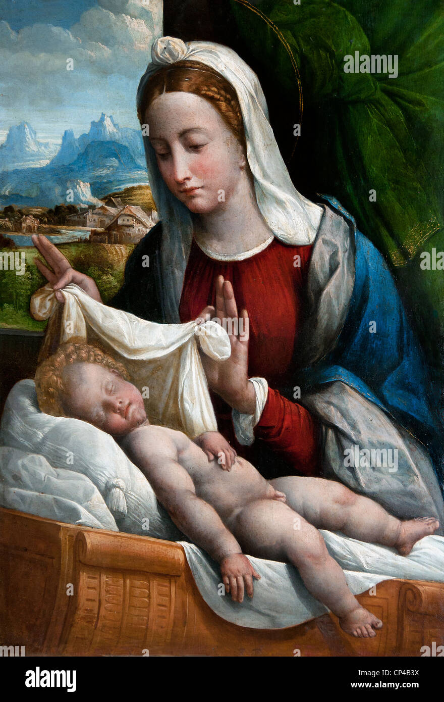 Mary The Infant Jesus Are Sleeping Stockfotos & Mary The Infant ...