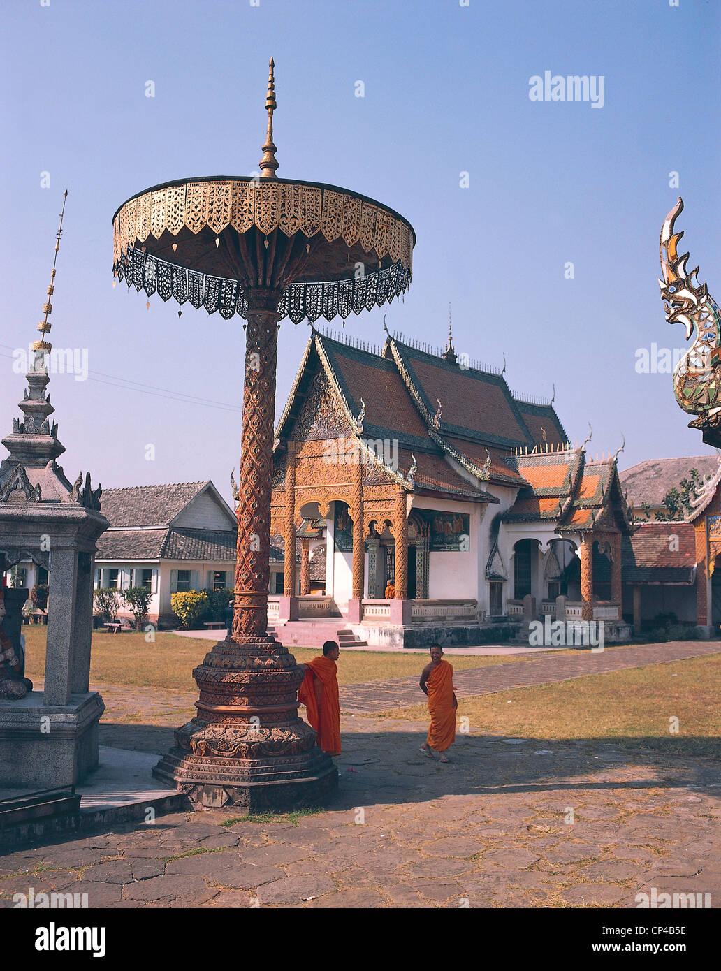 Thailand Gold Regenschirm Stockbild
