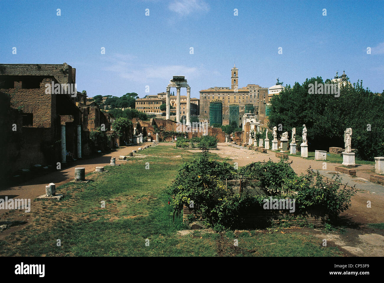 lazio rom forum romanum haus der vestalinnen stockfoto bild 48055709 alamy. Black Bedroom Furniture Sets. Home Design Ideas