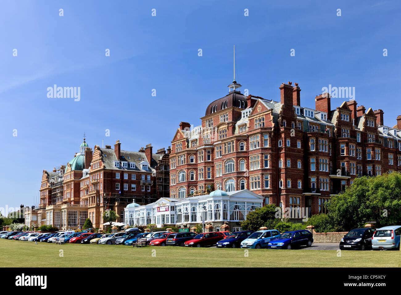 3825 die Metropole & Grand, Leas, Folkestone, Kent, UK Stockbild