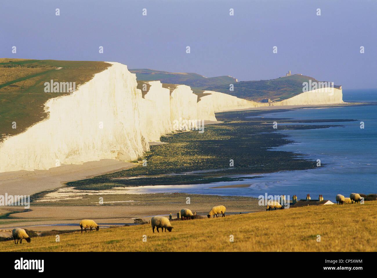 England, Sussex, sieben Schwestern Stockbild