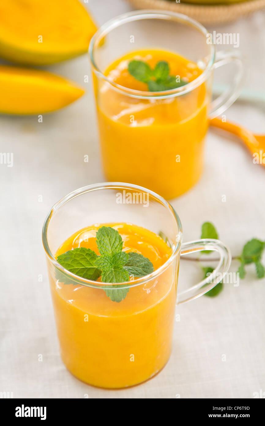 Mango-smoothie Stockbild