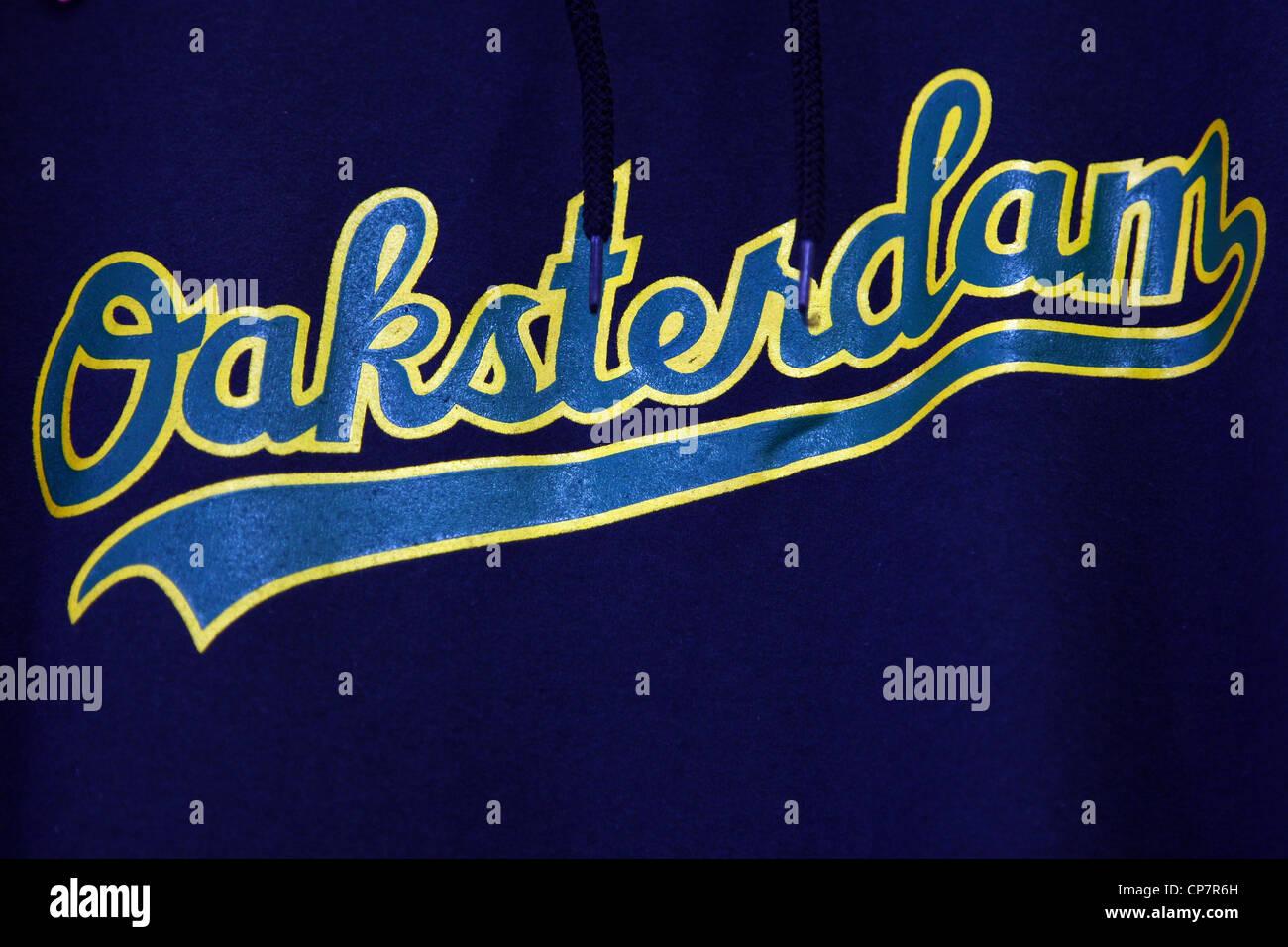 OAKSTERDAM LOGO OAKSTERDAM CANNABIS Geschenkladen 6. Oktober 2011 Stockbild