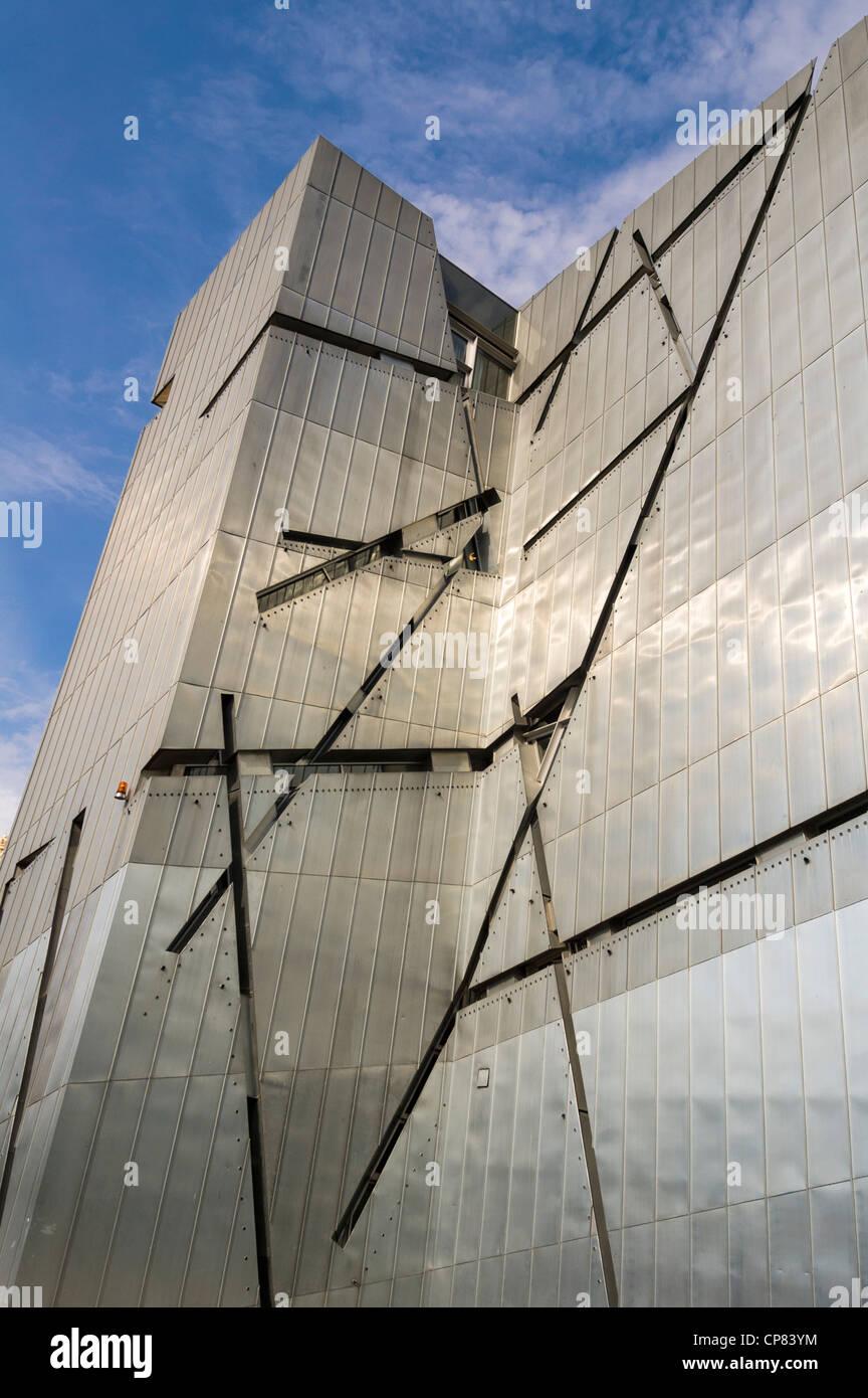 Fassade des jüdischen Museums in Berlin, Deutschland Stockfoto