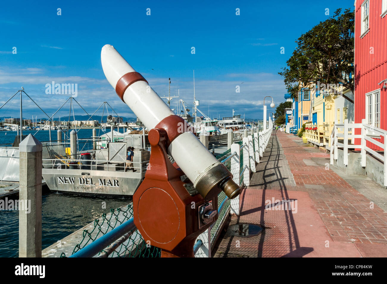 Münzautomaten Teleskop am Marina del Rey, Kalifornien, USA Stockbild