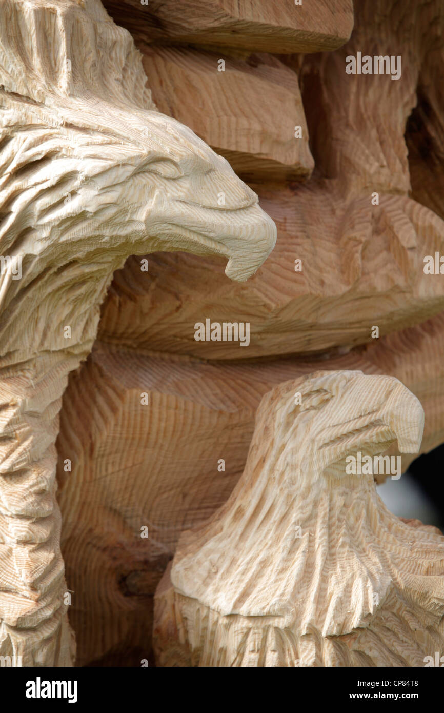 Adler chainsaw carving in knutsfords tatton park zeigen
