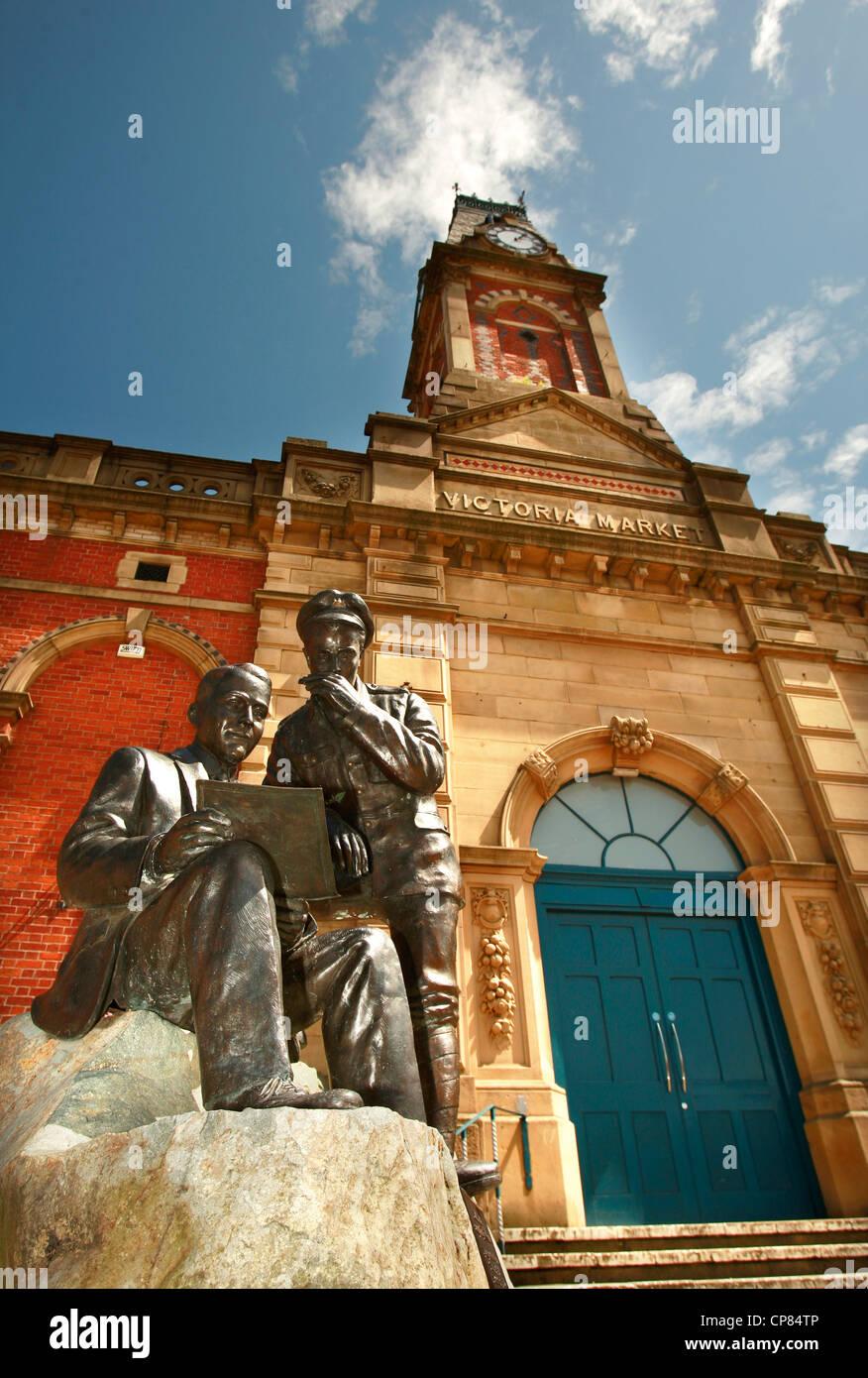 """Das """"Jack Judge"""" Denkmal in Stalybridge Greater Manchester. Jack schrieb das Lied """"Es ist ein langer Weg zu Tipperary Stockfoto"""