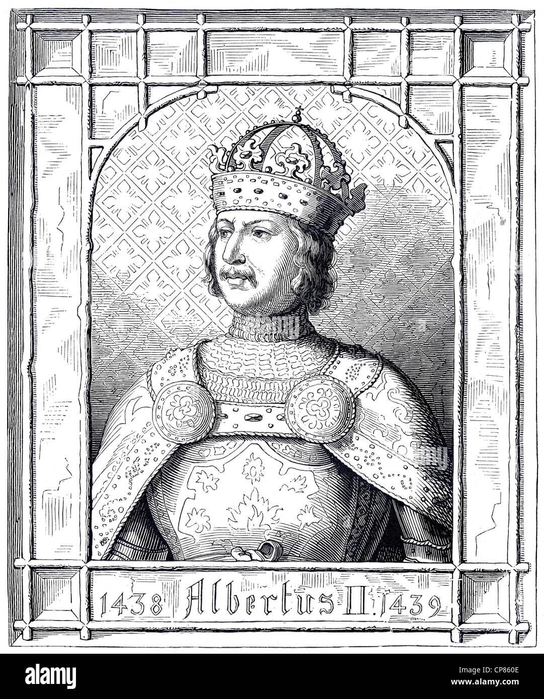 Albrecht II. von Habsburg, Oder Albert Oder Albrecht (1397-1439), als Albrecht V. Herzog von Österreich Und Stockbild