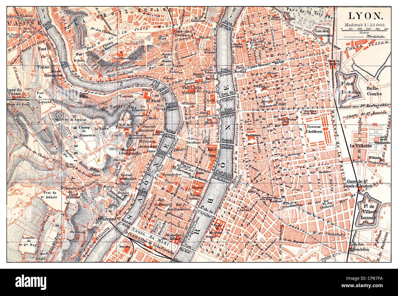 Lyon Karte.Historische Karte Von Lyon Frankreich Historische