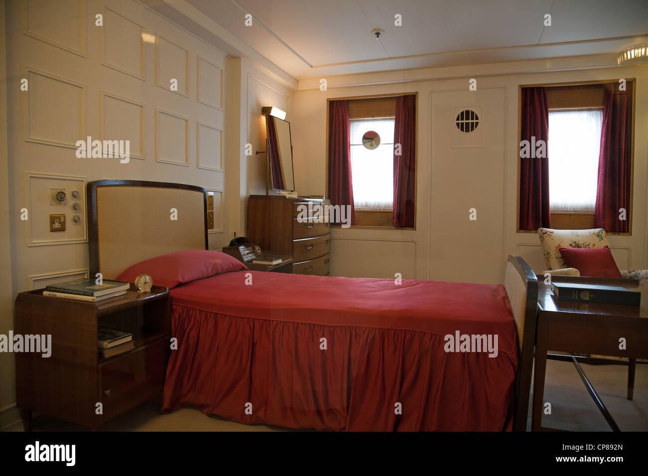 Der Duke of Edinburgh Schlafzimmer mit original 1950er Jahre Möbel ...