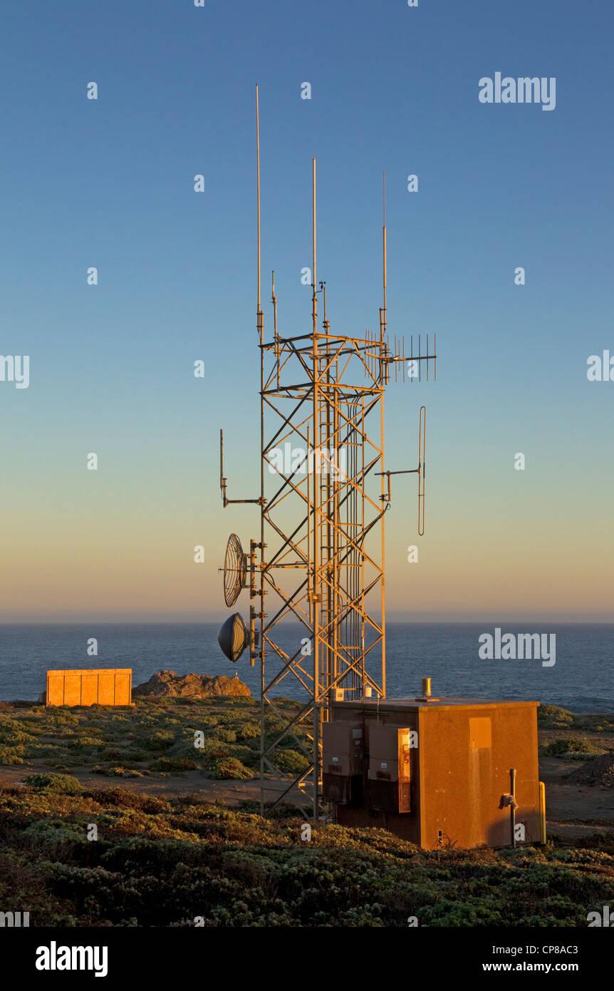 Kommunikation-Antennen Stockbild