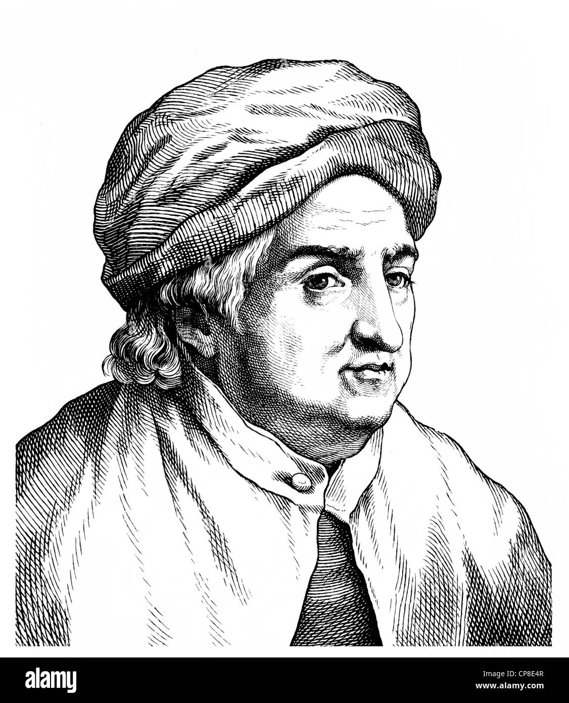 Albrecht von Haller, 1708-1777, Schweizer Arzt, Botaniker und Wissenschaft Schriftsteller der Aufklärung, Historische Stockbild