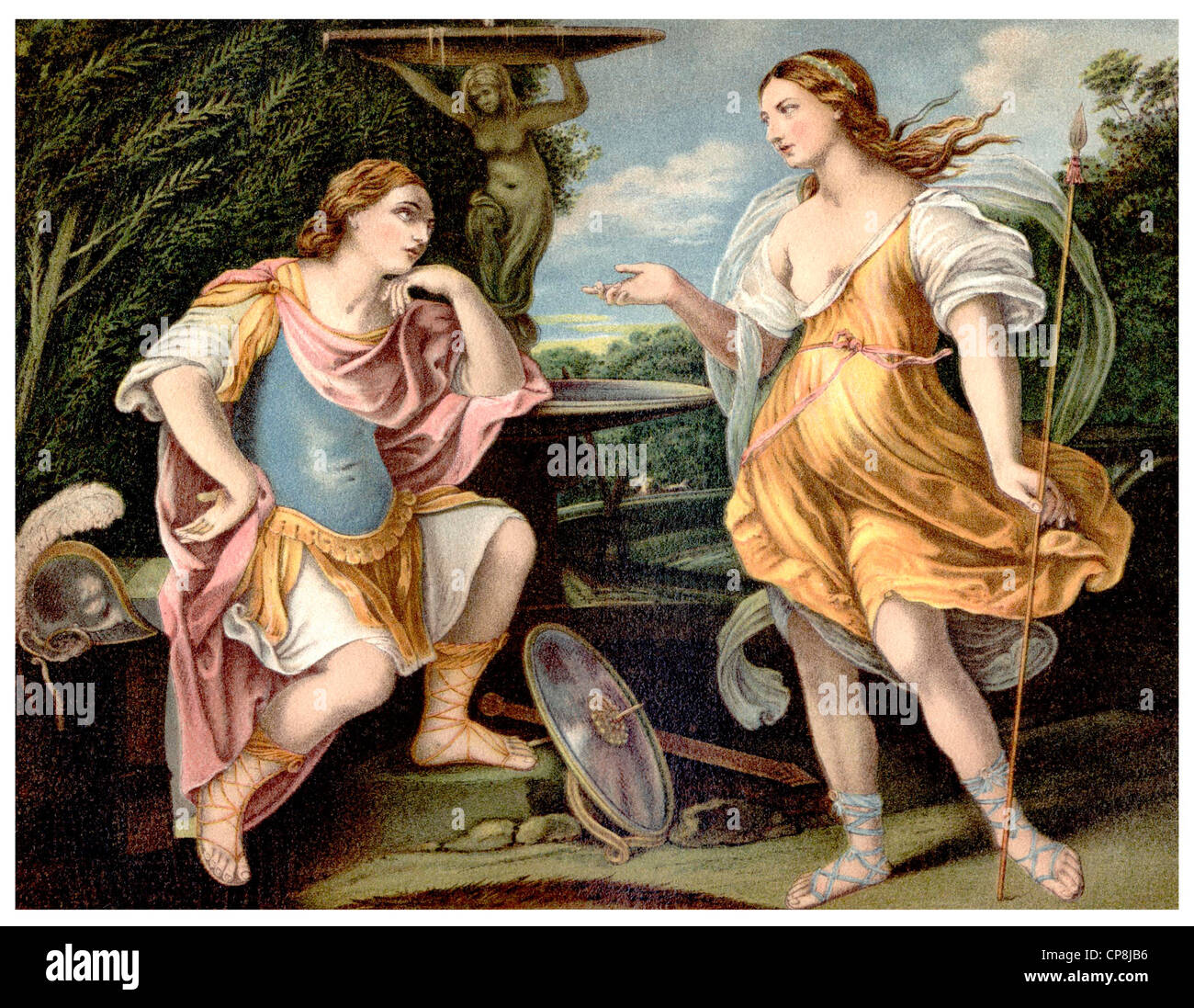 Historische Darstellung aus dem 19. Jahrhundert, nach einem Gemälde von Guido Reni, 1575-1642, ein italienischer Stockbild