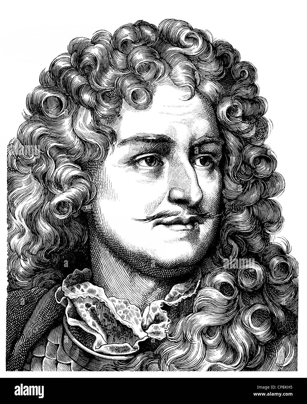 Friedrich Wilhelm von Brandenburg, 1620-1688, Haus der Hohenzollern, Markgraf von Brandenburg, Chamberlain und Kurfürst Stockbild