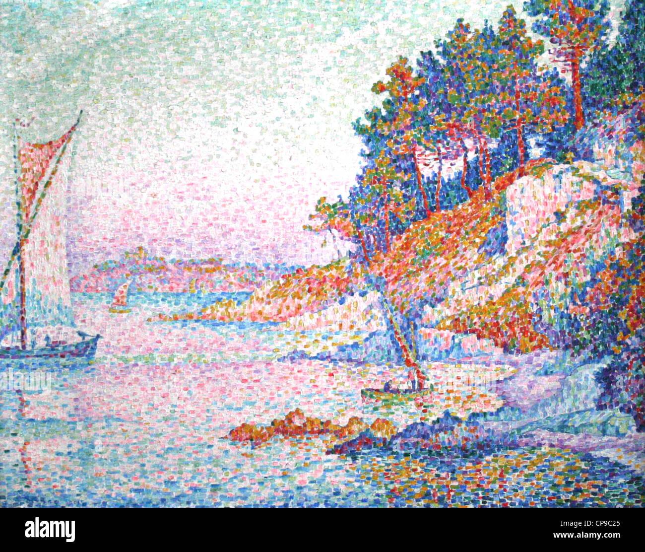 Französische Gemälde in den Königlichen Museen der schönen Künste von Belgien Paul Signac Stockbild
