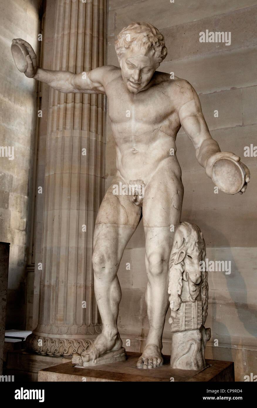 Tanzender Satyr Einladung auf den Tanz Roman 1 Cent AD-Kopie eines hellenistischen original 2d Cent BC Griechisch Stockfoto