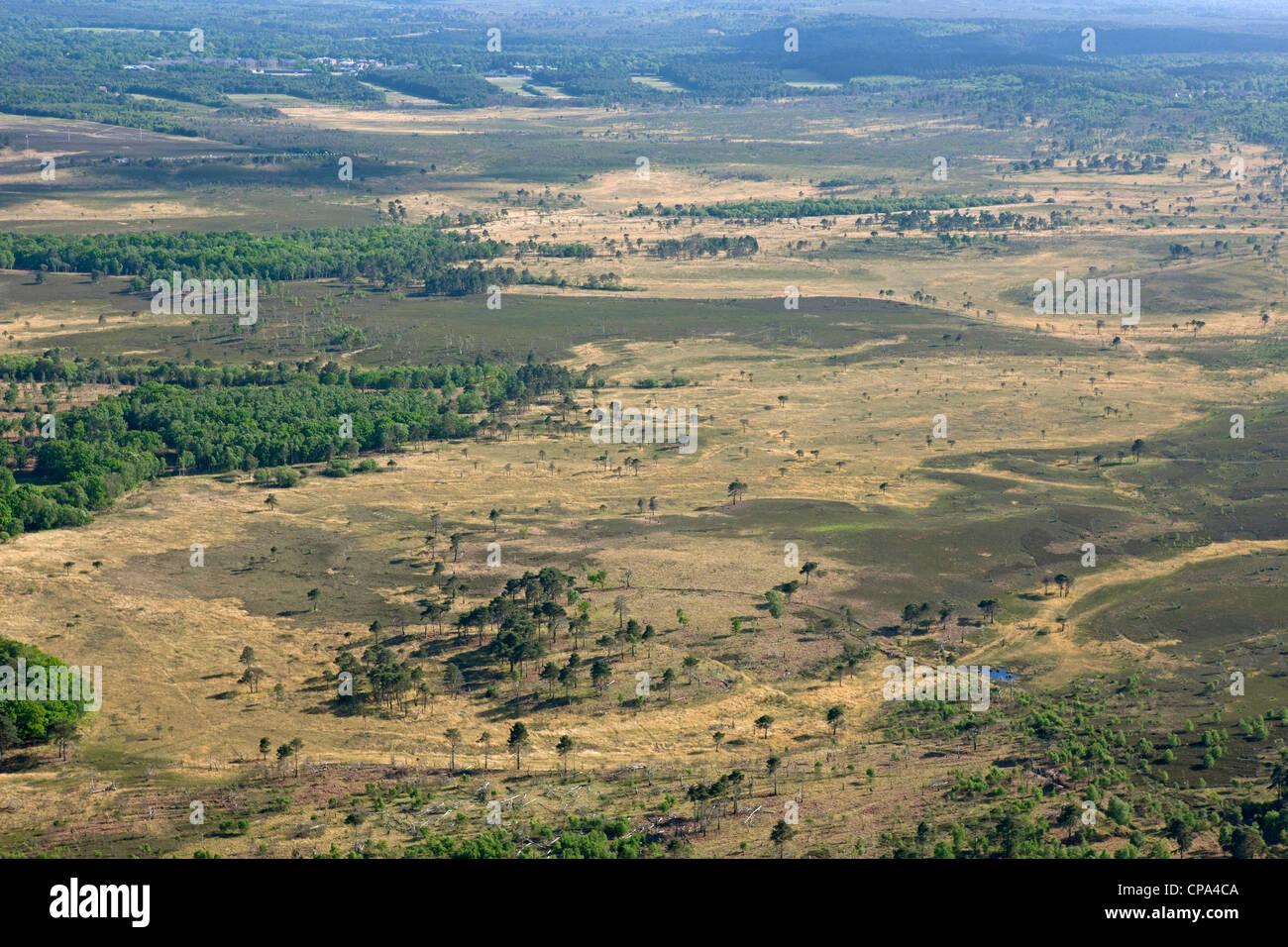 Luftaufnahme von Pirbright Bereich Surrey Stockbild