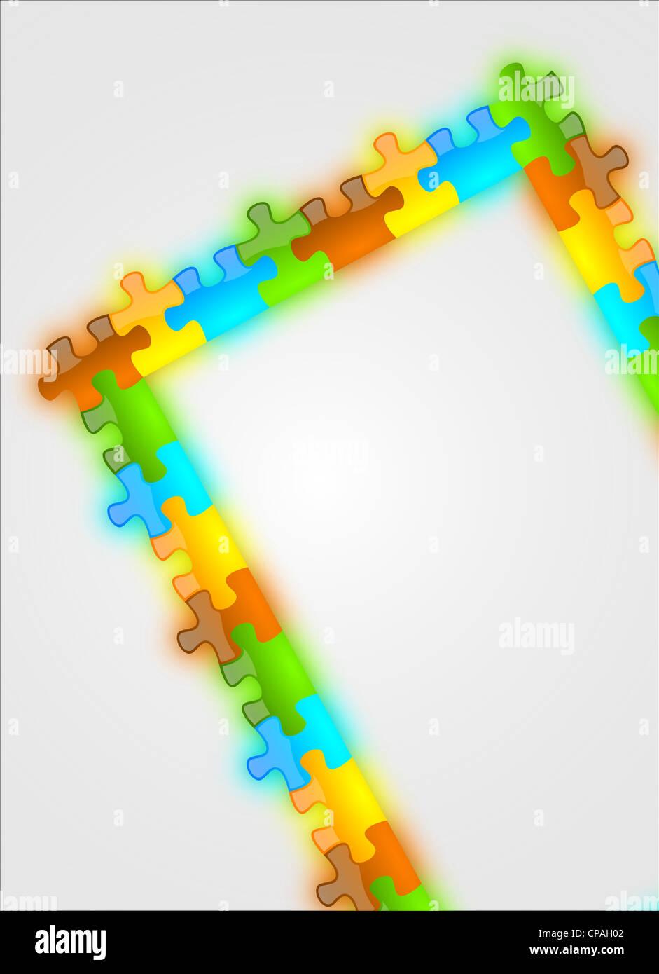 Farbe und glänzend puzzle Rahmen Hintergrund nützlich für ...