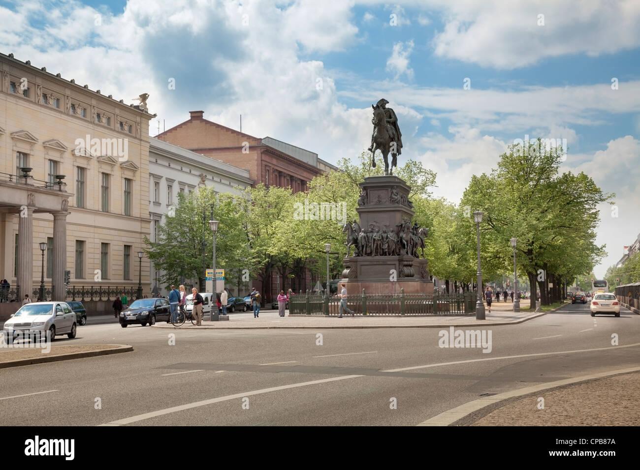 Unter Den Linden Berlin, Deutschland Stockfoto