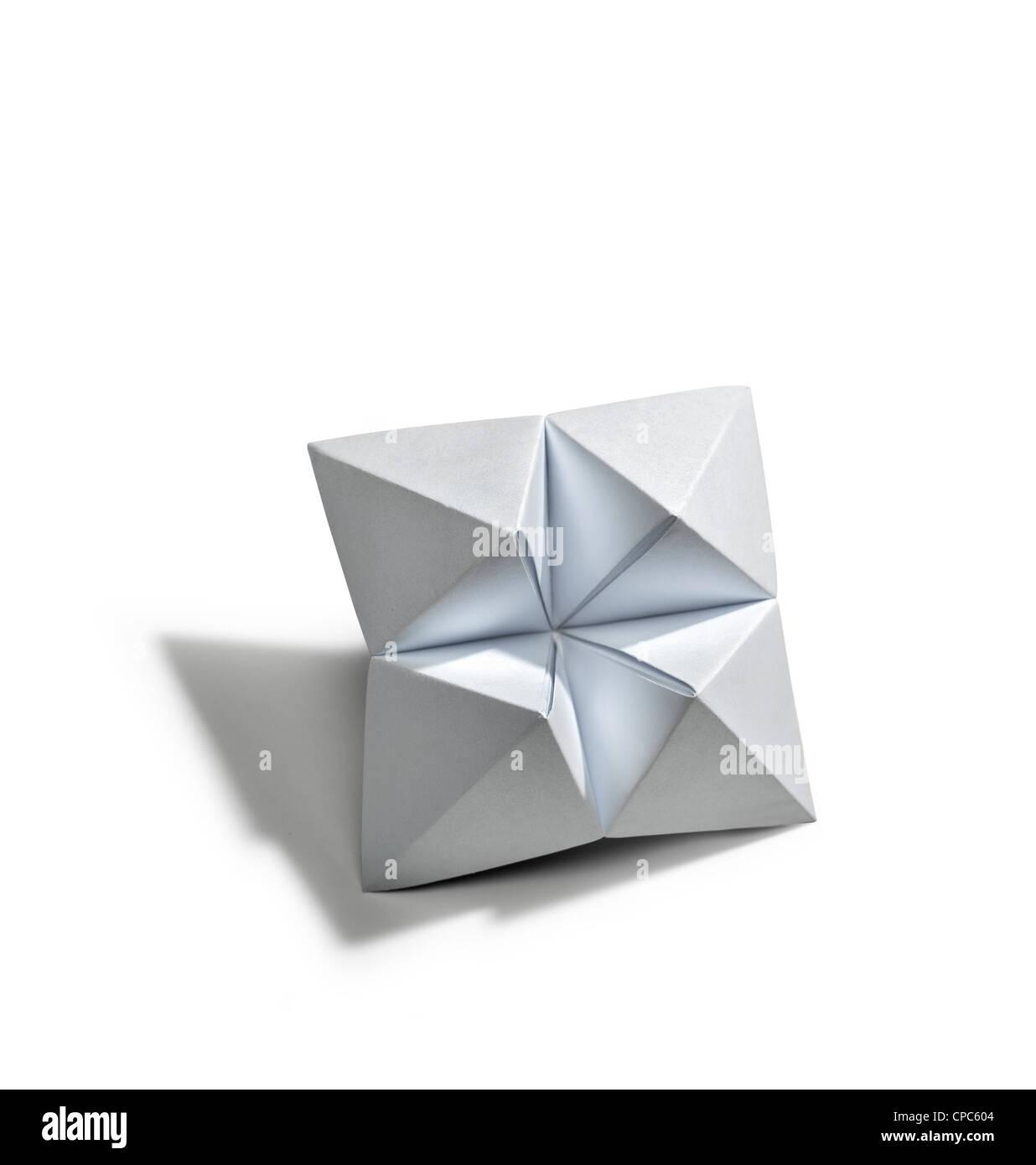 Leere Sterne in Origami isoliert Stockbild