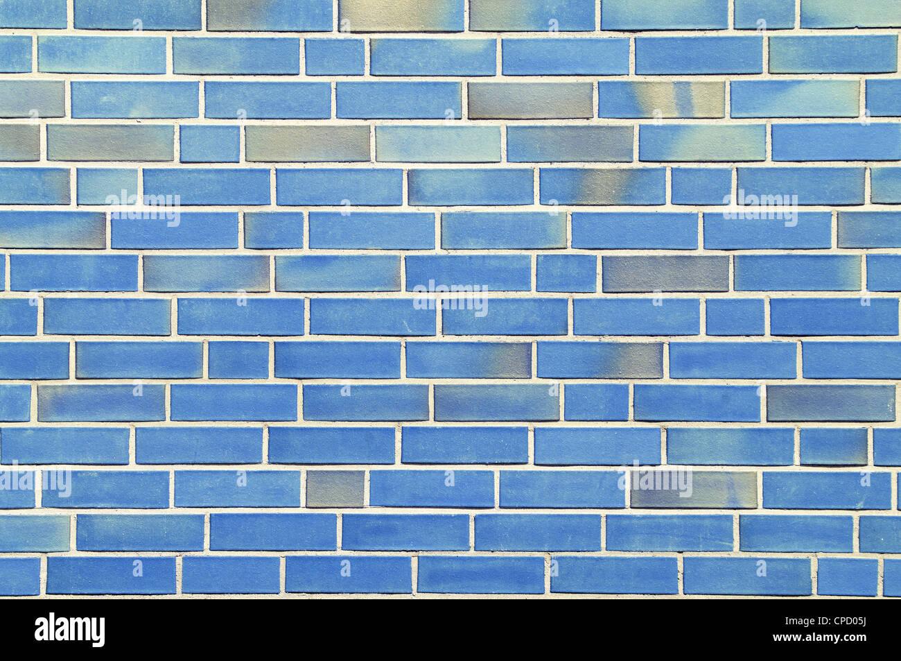 Wand mit blauen Steinen. Stockbild