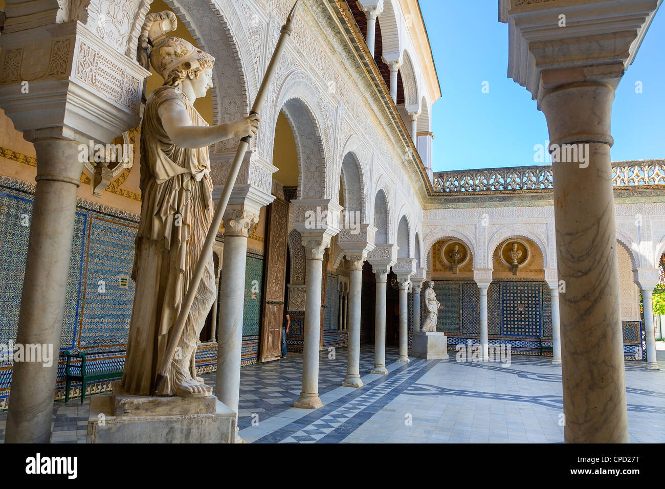 Europa, Spanien Andalusien, Sevilla, Patio im Casa de Pilatos Stockbild