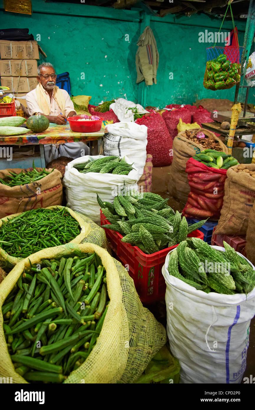 Markt, Munnar, Kerala, Indien, Asien Stockbild