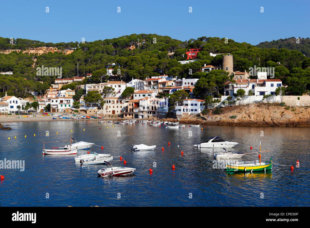 Sa Tuna, in der Nähe von Begur, Costa Brava, Katalonien, Spanien, Mittelmeer, Europa Stockbild