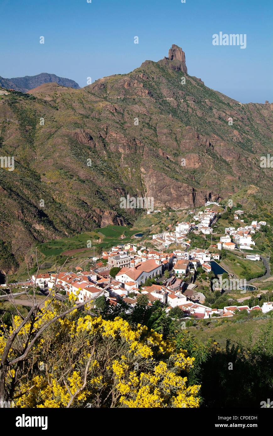 Tejeda und Roque Nublo, Gran Canaria, Kanarische Inseln, Spanien, Europa Stockbild
