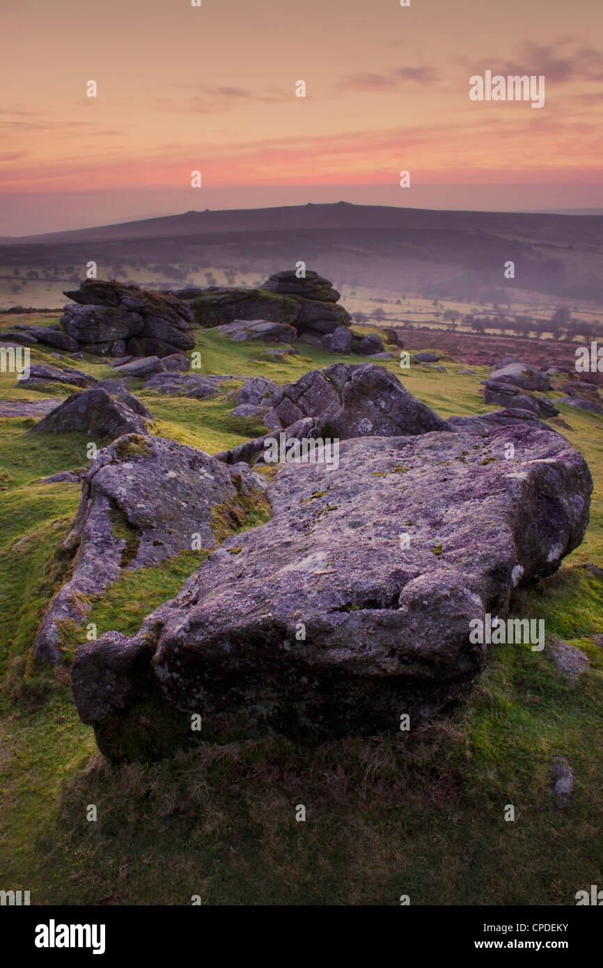 Sattel, Tor, Dartmoor National Park, Devon, England, Vereinigtes Königreich, Europa Stockbild