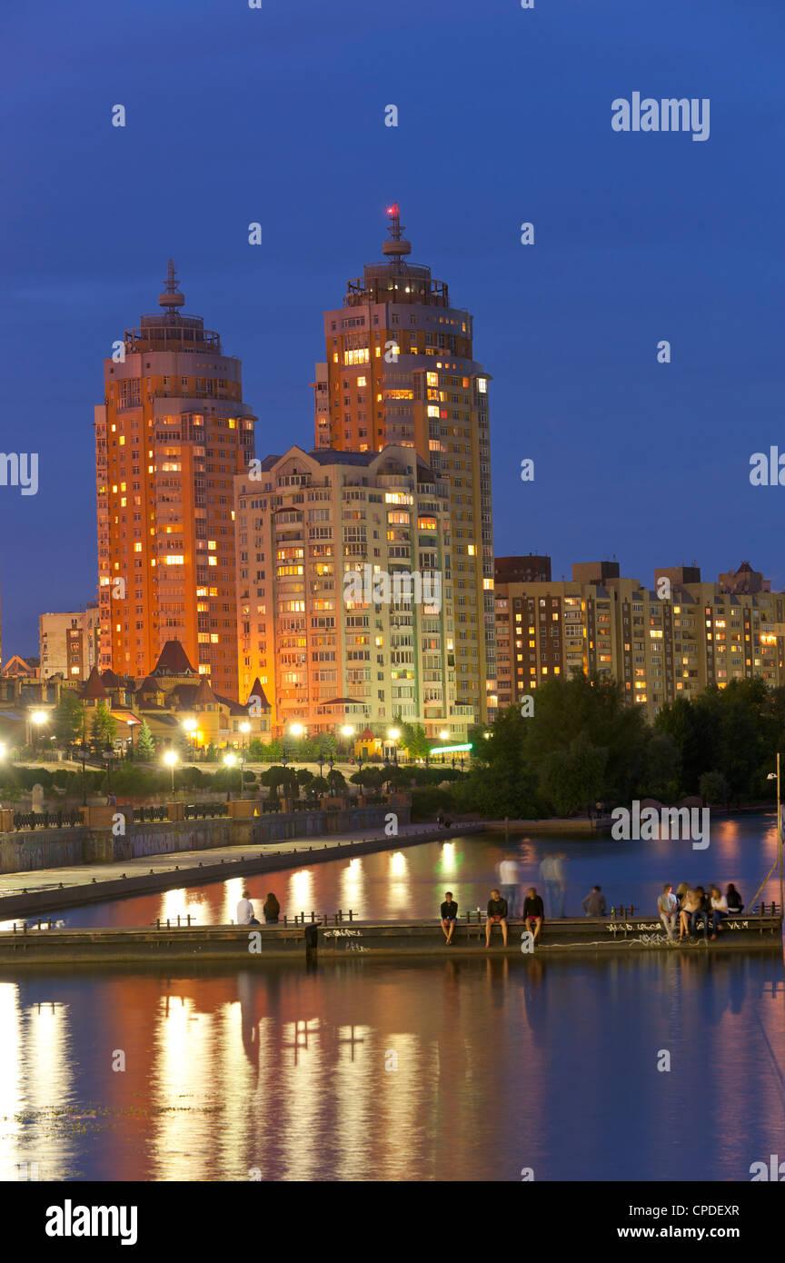 Obolon Wohngebiet, Kiew, Ukraine, Europa Stockbild