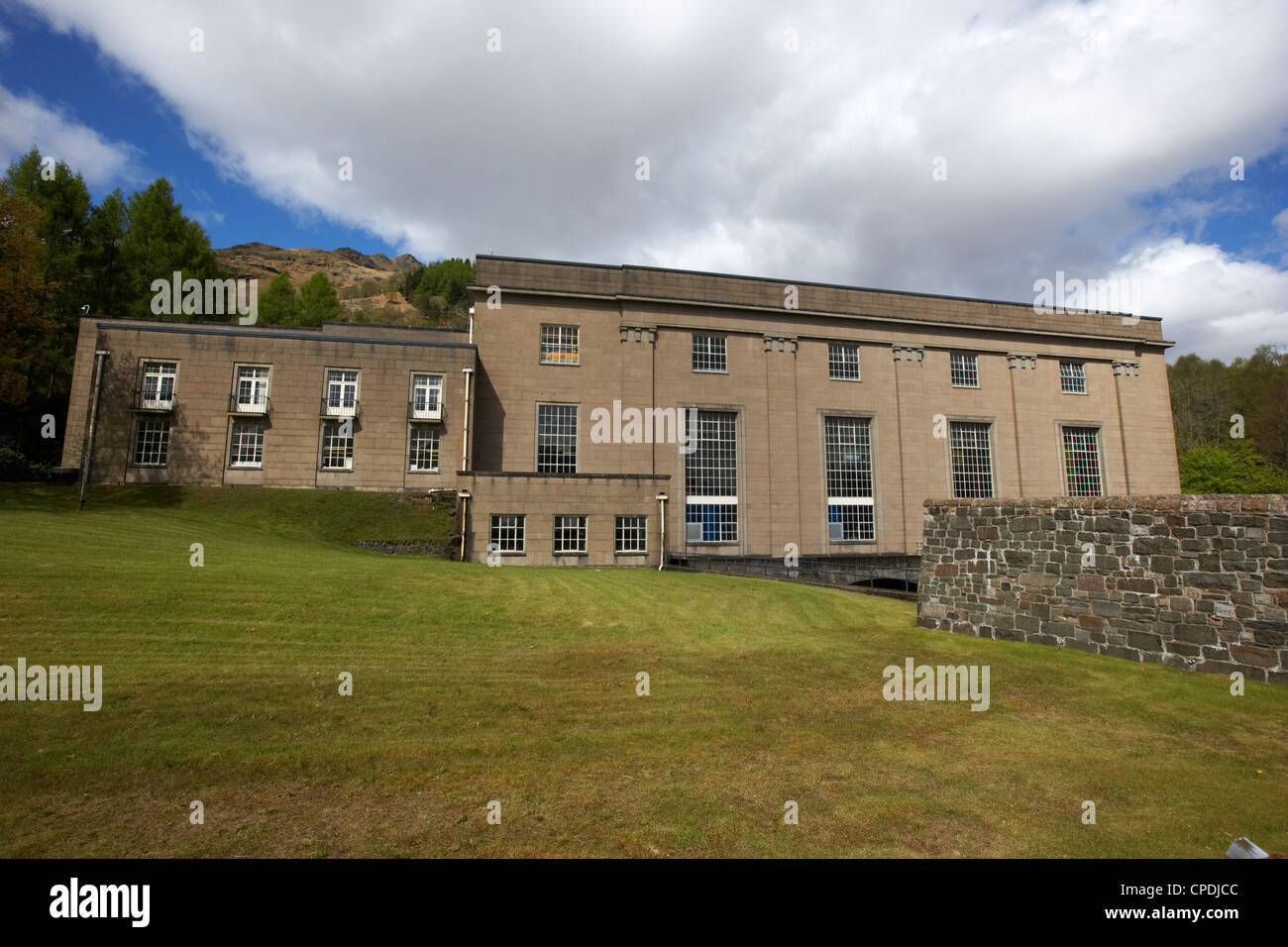sloy Hyrdro Elektrizitätswerk Loch Lomond, Schottland, Vereinigtes Königreich Stockbild