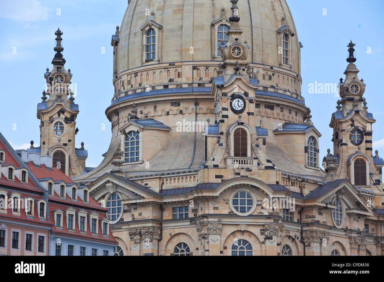 Frauenkirche in Dresden, Sachsen, Deutschland, Europa Stockbild