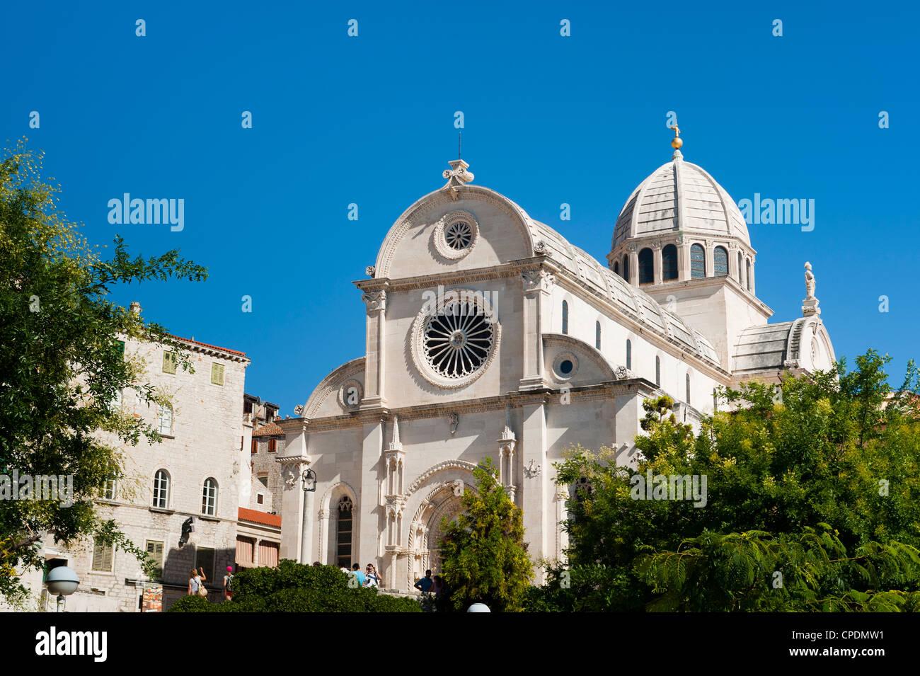 Katedrala Sv. Gjakove (St. James Cathedral), UNESCO-Weltkulturerbe, Sibenik, Dalmatien, Kroatien, Europa Stockbild