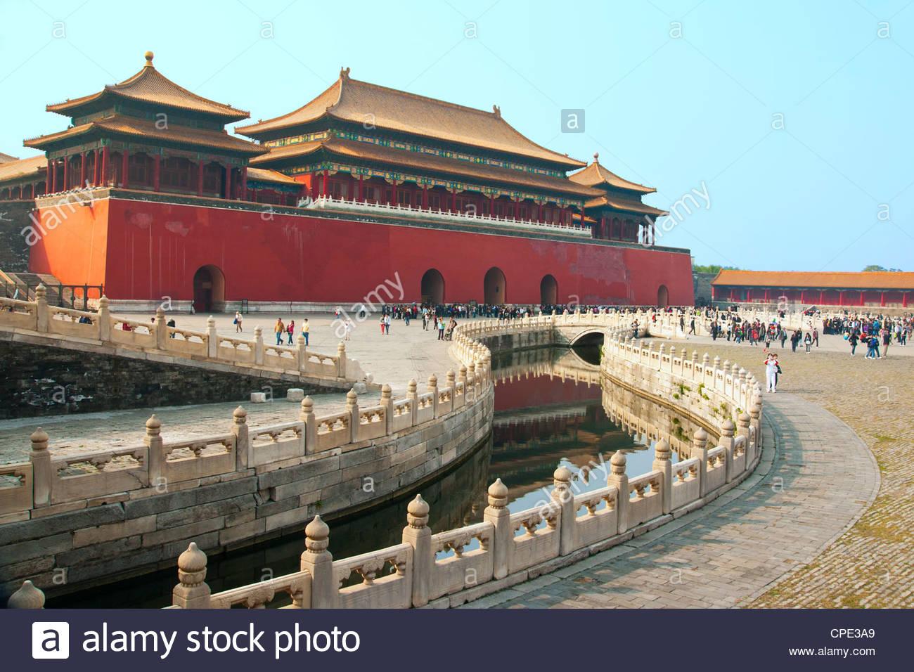 Flussgold, Verbotene Stadt, Peking, China, Asien Stockbild