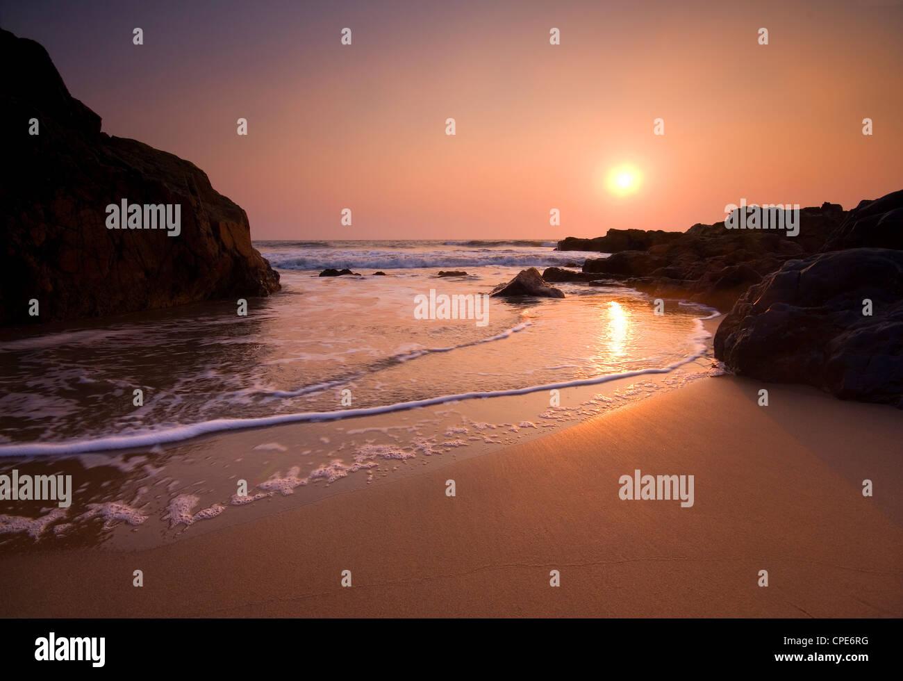 Arambol Beach, Goa, Indien, Asien Stockbild
