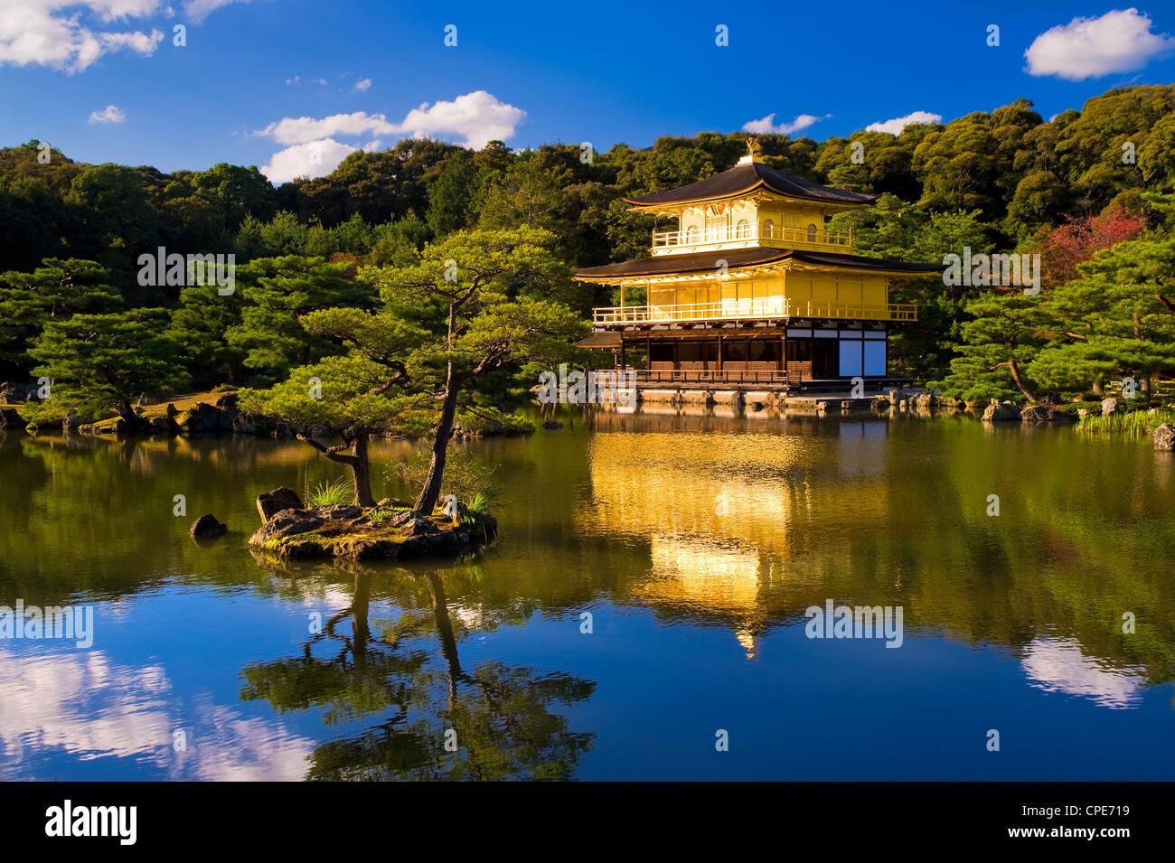 Kinkaku-Ji (Tempel des goldenen Pavillons), Kyoto, Japan, Asien Stockbild