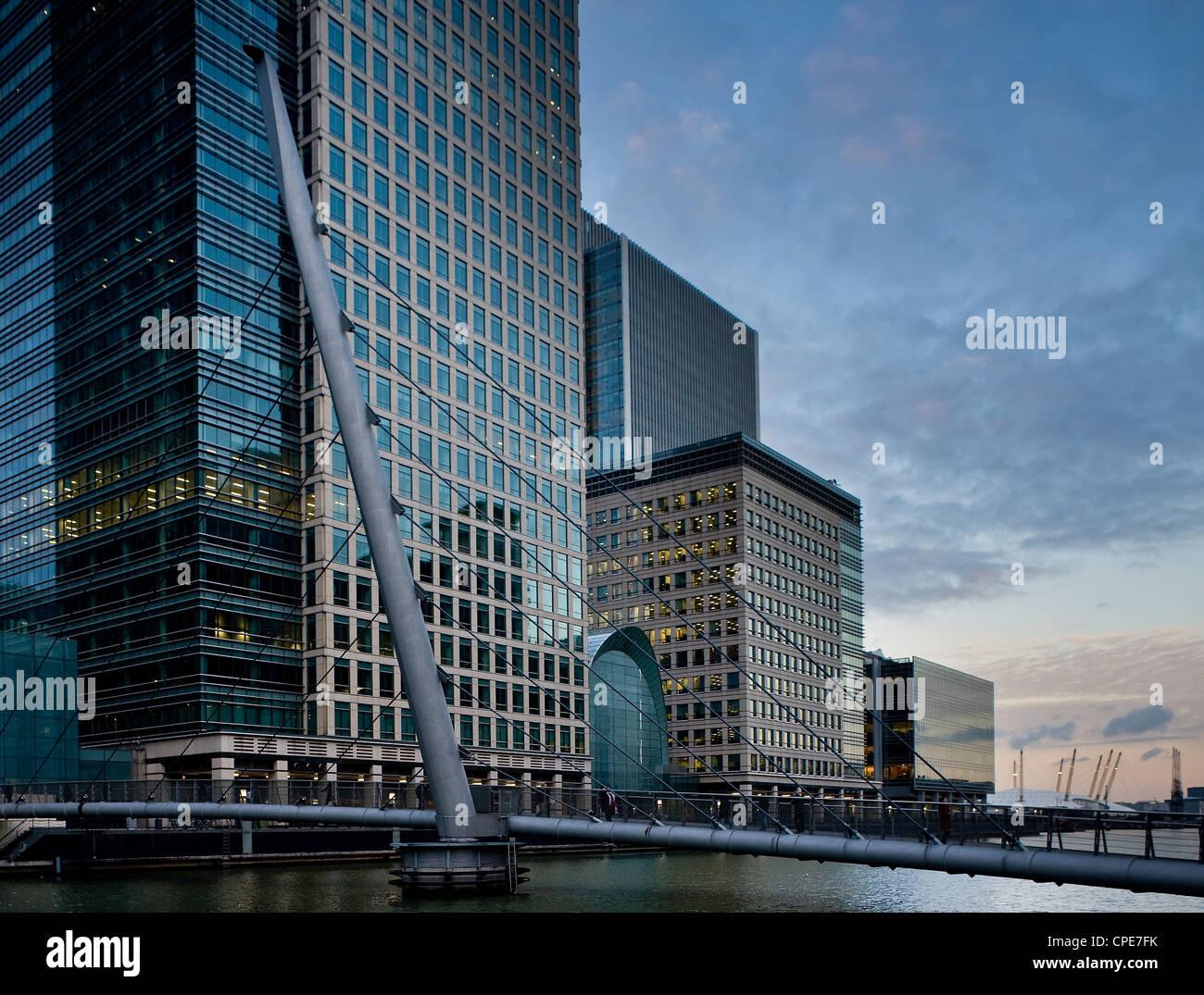 Canary Wharf, Docklands, London, England, Vereinigtes Königreich, Europa Stockbild