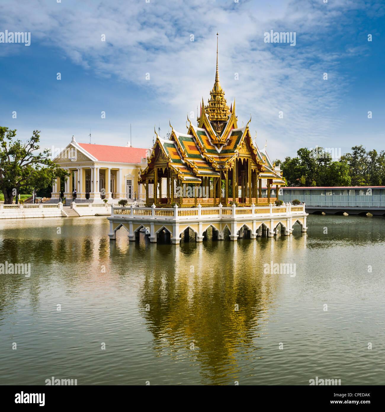 Phra Thinang Aisawan Thyphya-Kunst, der Sommerpalast nördlich von Bangkok, Thailand, im Jahre 1876 von König Stockbild
