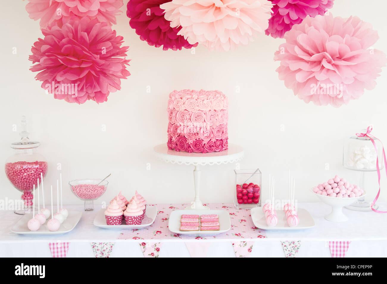 Dessert-Tabelle Stockbild