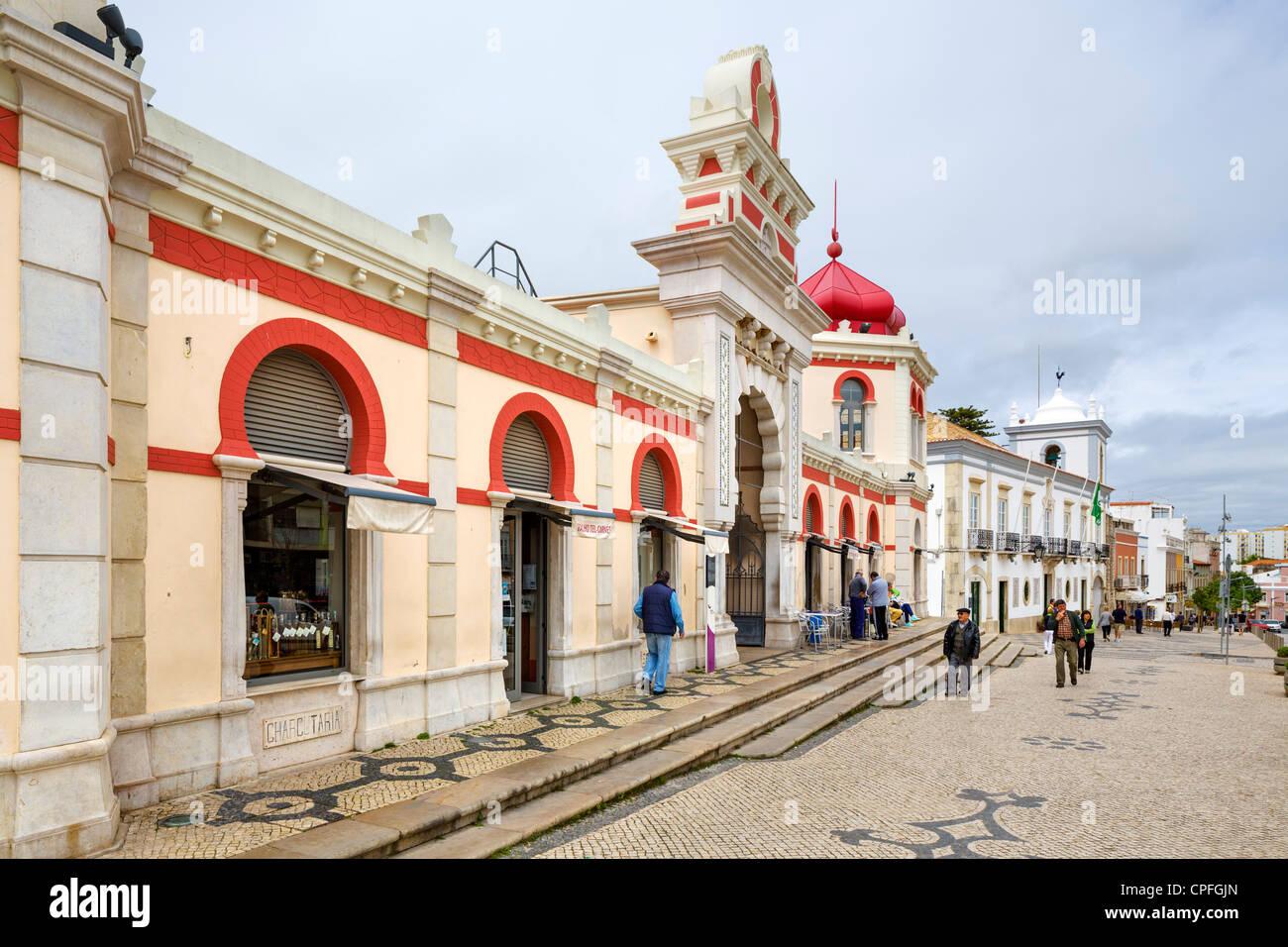 Markthalle in der Stadtzentrum, Rua Jose Fernandes Guerreiro, Loulé, Algarve, Portugal Stockbild