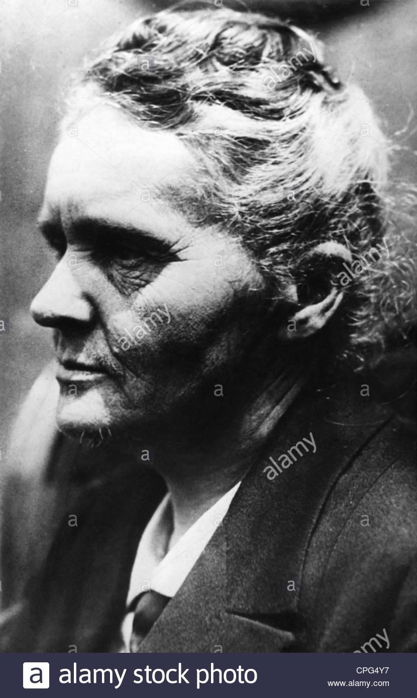 Curie, Marie, 7.11.1867 - 4.7.1934, französischer Physiker, polnischer Herkunft, Porträt, 1920er Jahre, Stockfoto