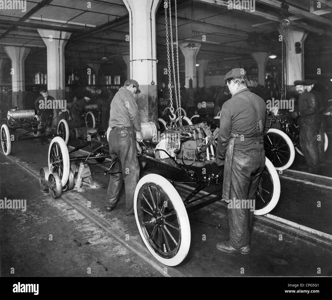 Industrie, Automobilindustrie, Fließband, Ford Werk, 1913