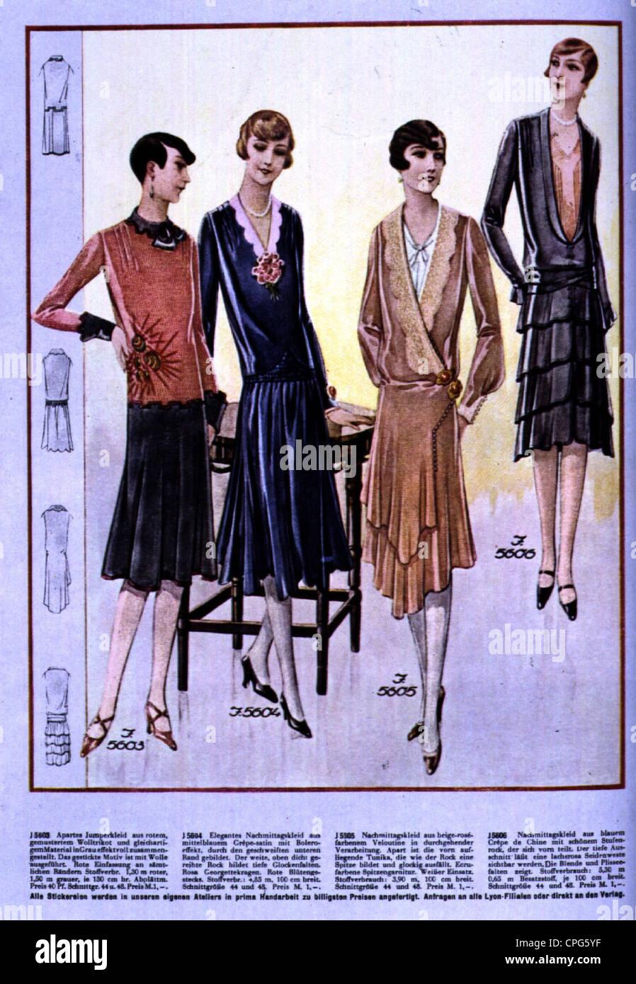 mode ladie die mode der 1920er jahre von mode magazin 1929 20 jahrhundert historische. Black Bedroom Furniture Sets. Home Design Ideas