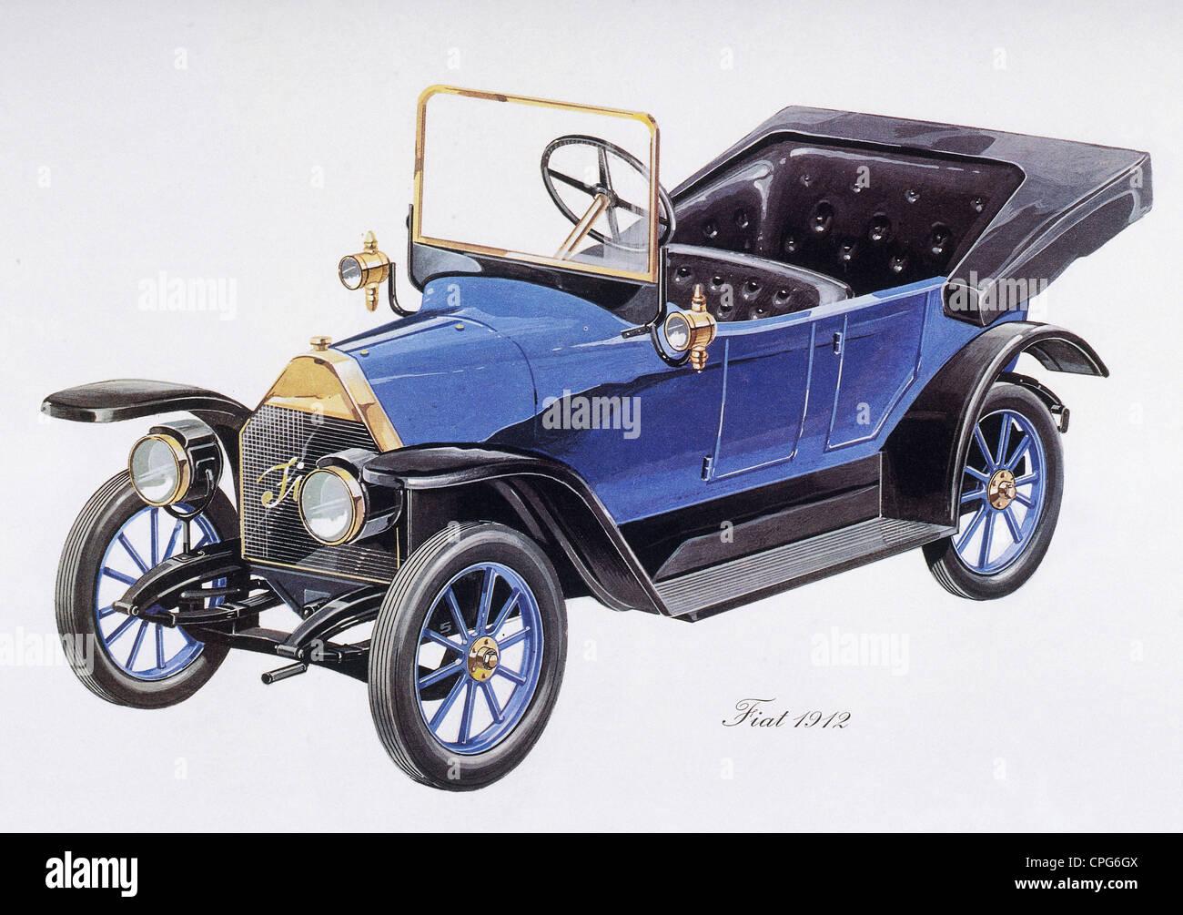 Verkehr / Transport, Auto, Fahrzeugvarianten, Fiat 1912, Design von ...
