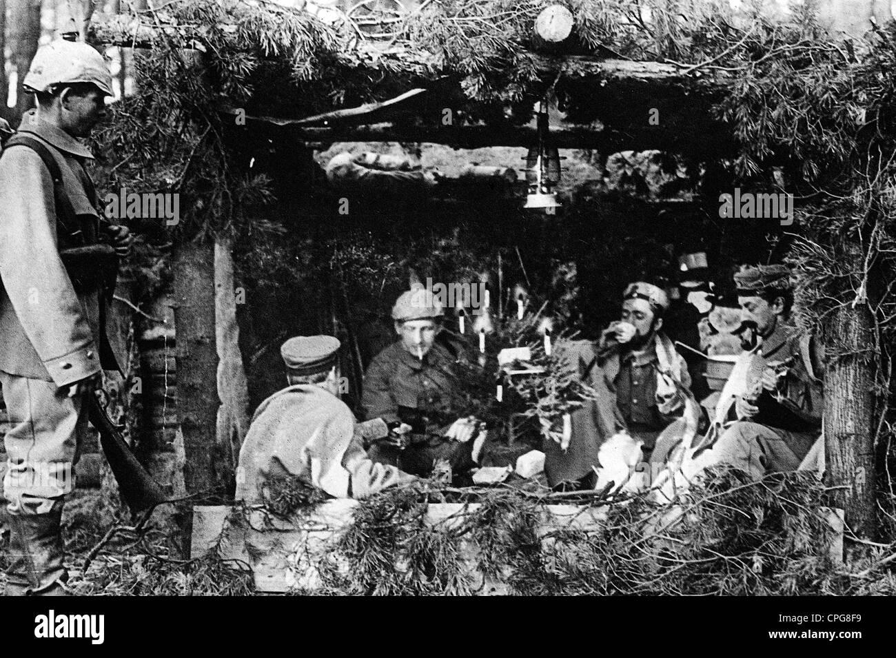 Weihnachten, Deutsche Soldaten Weihnachten feiern in Ihrem Tierheim ...