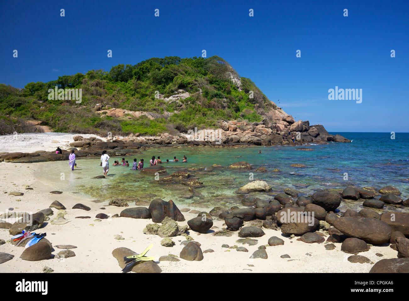 Ansicht Der Korallenstrand Auf Pigeon Island National Park
