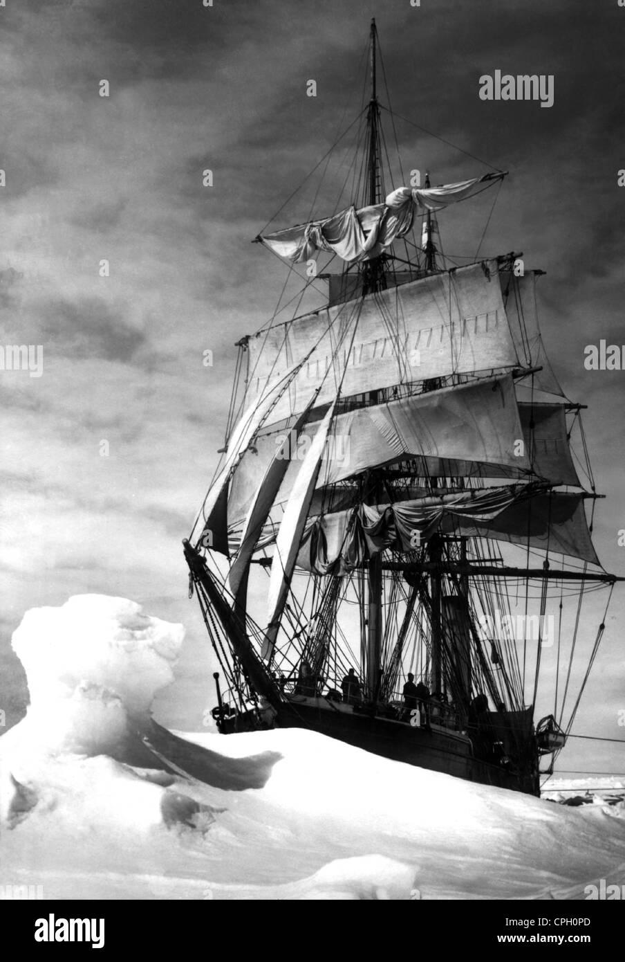 Scott, Robert Falcon, 6.6.1868 - 29.3.1912, Britische Antarktis, Expedition in die Antarktis 1910 - 1912, sein Schiff Stockbild