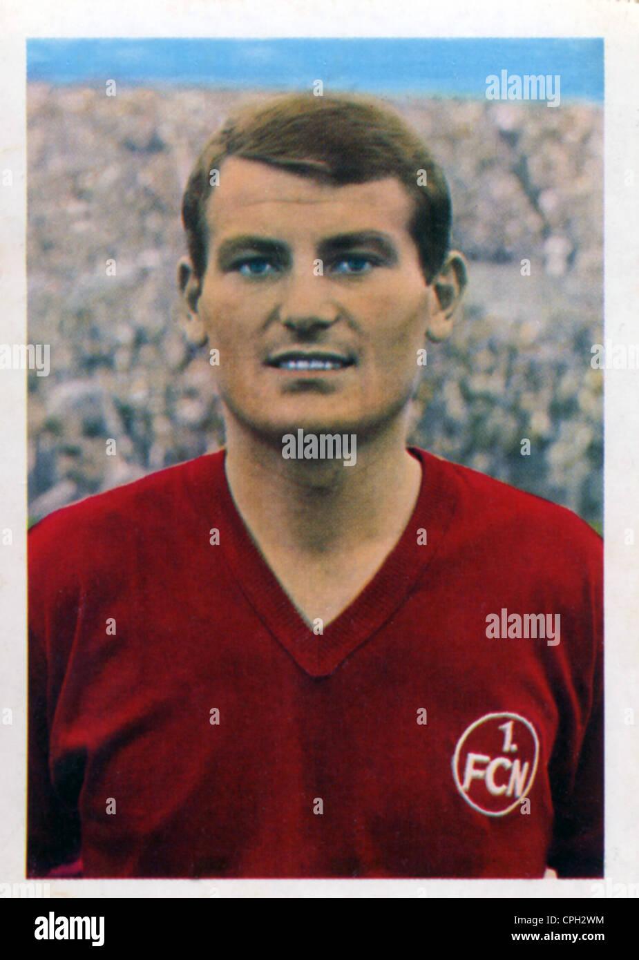 Mueller, Ludwig, * 25.8.1941, Deutscher Fußballspieler, Spieler für 1. FC Nürnberg, Porträt, Stockbild